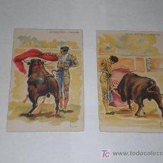 2 Postales de TOREROS (Media Verónica y Manoletina).