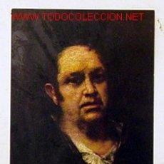 Postales: MUSEO DEL PRADO-AUTORRETRATO.GOYA.NO CIRCULADA,AÑO 1959.. Lote 1102214