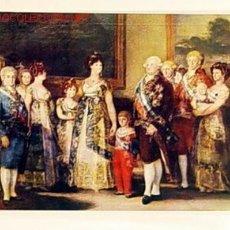 Postales: POSTAL-MUSEO DEL PRADO.LA FAMILIA DE CARLOS IV.GOYA.NO CIRCULADA.. Lote 1480949