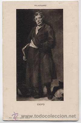 POSTAL: ESOPO, VELAZQUEZ. HAUSER Y MENET 519, MADRID. ANTERIOR A 1905. SIN CIRCULAR (Postales - Postales Temáticas - Arte)