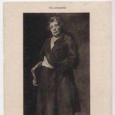 Postales: POSTAL: ESOPO, VELAZQUEZ. HAUSER Y MENET 519, MADRID. ANTERIOR A 1905. SIN CIRCULAR. Lote 14189636