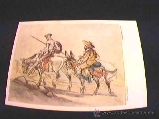 DON QUIJOTE. EDITORIAL ARTIS-MUTI. PINTADO CON LA BOCA. AÑO 1959. Nº 2105. (Postales - Postales Temáticas - Arte)