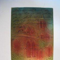 Postales: POSTAL EN RELIEVES Y DORADOS (CIRCULADA 1906). Lote 11990978