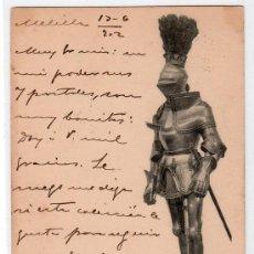 Postales: TARJETA POSTAL DE LA COLECCION REAL ARMERIA. I. SERIE 6. HAUSER Y MENET. Lote 12886304
