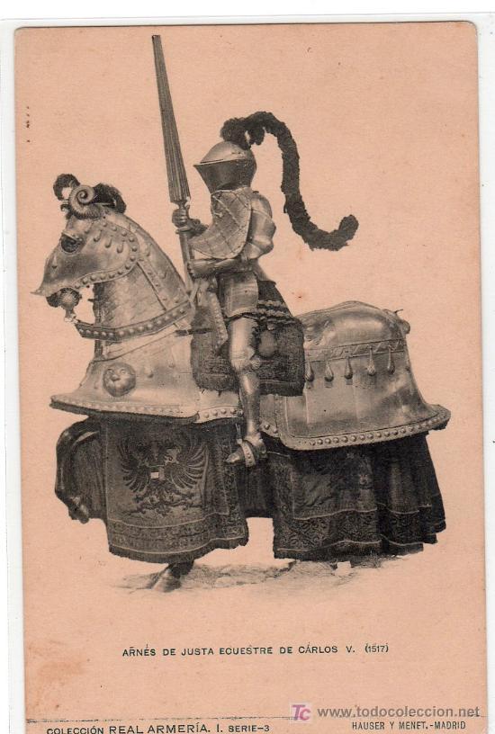 TARJETA POSTAL DE LA COLECCION REAL ARMERIA. I. SERIE 3. HAUSER Y MENET (Postales - Postales Temáticas - Arte)