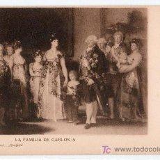 Postales: TARJETA POSTAL. LA FAMILIA DE CARLOS IV. DE GOYA. 957 HAUSER Y MENET. Lote 12903072