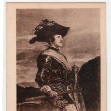 Postales: TARJETA POSTAL. REY D. FELIPE IV. DE VELAZQUEZ. 510 HAUSER Y MENET. Lote 12903087