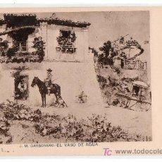 Postales: TARJETA POSTAL DE J. M. CARBONERO. EL VASO DE AGUA. SERIE I Nº 3. Lote 12990797