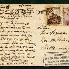Postales: *ESTEBAN MOYA TELLEZ* PINTOR. AUTÓGRAFO SOBRE TARJETA POSTAL CIRCULADA 1941.. Lote 13598098