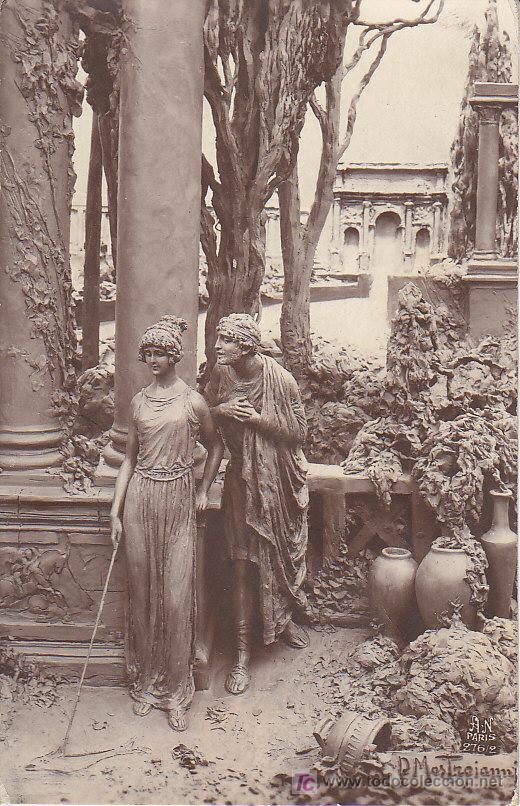 PS3312 'QUO VADIS, PAR MASTROIANNI. PRIMER ENCUENTRO DE VINICIO CON LIGIA'. CIRCULADA EN 1923 (Postales - Postales Temáticas - Arte)