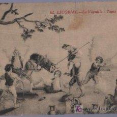 Postales: TARJETA POSTAL ANTIGUA DE PINTORES. EL ESCORIAL. LA VAQUILLA. TAPIZ DE GOYA.. Lote 14150570