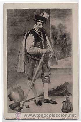 POSTAL: UN TRUHAN, VELAZQUEZ. HAUSER Y MENET Nº 1888. ANTERIOR A 1905. SIN CIRCULAR (Postales - Postales Temáticas - Arte)