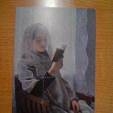 Postales: POSTAL JUAN LLIMONA LECTURA (MUSEO DE ARTE Y ARQUEOLOGIA DE BARCELONA SIN CIRCULAR. Lote 14481115