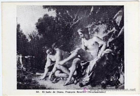 Boucher El Bano De Diana.Postal Arte Neoclasicismo 50 El Bano De Diana Francois Boucher Pintor Frances