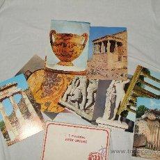 Postales: CARPETA DE 9 POSTALES DE ARTE GRIEGO. Lote 18751995