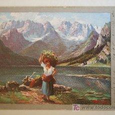 Postales: PRECIOSA POSTAL PINTURA. CIRCULADA AÑO 1905. Lote 26726298