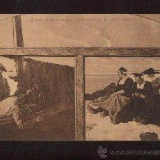 Postales: PRECIOSA Y ANTIGUA POSTAL UNIDOS POR EL PENSAMIENTO DE ALVARO ALCALA GALDEANO EDITOR HAUSEN Y MENET. Lote 15974507