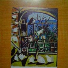 Postales: POSTAL LOS PICHONES CANNES 6 SEP 1957 OLEO SOBRE LIENZO 100X80 CMS MUSEO PICASSO BARCELONA. Lote 14876663