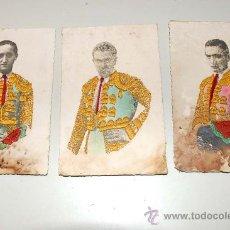 LOTE 3 POSTALES TOREROS, JULIO APARICIO, J. MARIA MARTORELL, PARRITA.