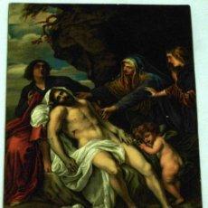 Postales: POSTAL STENGEL & CO DRESDEN BEWEINUNG CHRISTI VAN DYCK BERLÍN SIN CIRCULAR. Lote 16824405