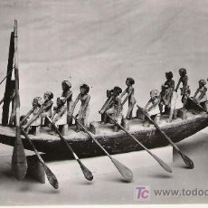 Postales: WOODEN MODEL BOAT WITH ROWERS - Nº 34273 -. Lote 17099301