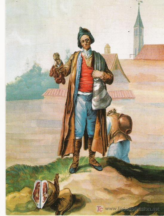 EL CHORICERO DE CANDELARIO - TAPIZ DE BAYEU - (Postales - Postales Temáticas - Arte)
