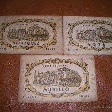 Postales: BLOCS DE POSTALES MURILLO-VELAZQUEZ-GOYA CAJA 1. Lote 17250388