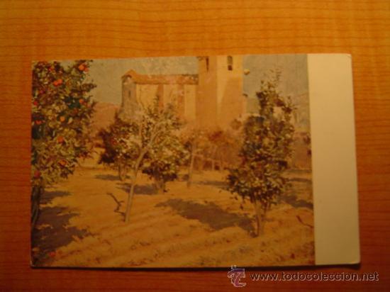 TARJETA POSTAL JOAQUIN MIR L´HORT DEL RECTOR (MUSEO DE ARTE Y ARQUEOLOGIA DE BARCELONA SIN CIRCULAR (Postales - Postales Temáticas - Arte)