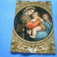 Postales: POSTAL ITALIA FLORENCIA GALERIA PITTI VIRGEN DE LA SEGGIOLA RAFAEL NO CIRCULADA. Lote 18188043