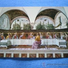 Postales: POSTAL ITALIA FLORENCIA MUSEO SAN MARCO LA ULTIMA CENA DOMENICO GHIRLANDAIO NO CIRCULADA. Lote 18188125