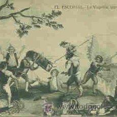 Postales: EL ESCORIAL - LA VAQUILLA (TAPIZ DE GOYA). Lote 18986069