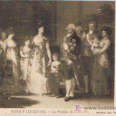Postales: TARJETA POSTAL, Nº 109, GOYA Y LUCIENTES, LA FAMILIA DE CARLOS IV, MUSEO DEL PRADO, MADRID. Lote 19364529
