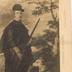 Postales: TARJETA POSTAL, Nº 24, D. FERNANDO DE AUSTRIA, MUSEO DEL PRADO, VELÁZQUEZ. Lote 19364702