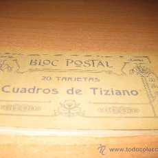 Postales: BLOC POSTAL- CUADROS DE TIZIANO. Lote 19367640