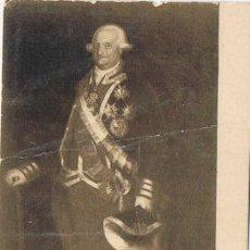 Postales: TARJETA POSTAL, Nº 105, RETRATO DEL REY CARLOS IV, MUSEO DEL PRADO, GOYA Y LUCIENTES. Lote 19368526