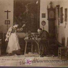 Postales: POSTAL TEATRO COLECCION CASANOVAS SERIE L Nº 8 CIRCULADA 1902. Lote 19592261