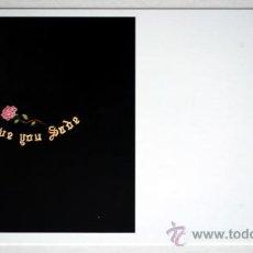 Postales: ARCO 2004 POSTAL DE PABLO ALONSO HERRÁIZ. I LOVE YOU SADE. BORDADO SOBRE TERCIOPELO 100X100 CM. 2001. Lote 19859442