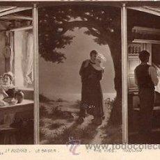 Postales: J. P. ALIZARD - LE BAISER (SALON 1913) (CIRCULADA EN 1916). Lote 20764565