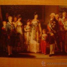 Postales: POSTAL LA FAMILIA DE CARLOS IV GOYA MUSEO DEL PRADO SIN CIRCULAR. Lote 21288696