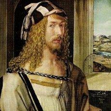 Postales: DURERO (1471-1528) - AUTORRETRATO (MUSEO DEL PRADO). Lote 21419654