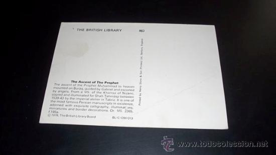 Postales: POSTAL THE BRITISH LIBRARY - THE ASCENT OF THE PROPHET 1978 - Foto 2 - 21461430
