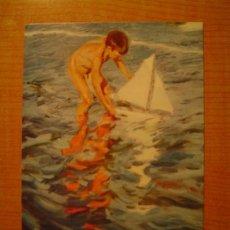 Postales: POSTAL JOAQUIN SOROLLA BASTIDA 1968-1923 MUSEO SOROLLA MADRID EL BALANDRITO SIN CIRCULAR. Lote 21493711