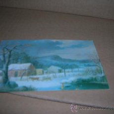 Postales: TARJETA POSTAL 8126: PATIO DE GRANJA EN INVIERNO, DE GEORGE H. DURRIE, AMERICAN, 1820-1863. SIN USAR. Lote 21905944
