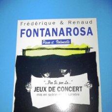 Postales: POSTAL FRANCESA CONCIERTO FONTANAROSA PIANO Y VIOLONCELLO.