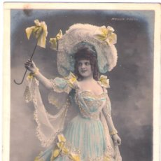 Cartes Postales: TARJETA POSTAL. ACTRIZ BAXONE. MOULIN ROUGE. WALERY PARIS. Lote 22533524