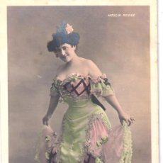 Postales: TARJETA POSTAL. ACTRIZ DE CROISSY. MOULIN ROUGE. WALERY PARIS. Lote 22533604