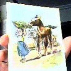 Postales: PEQUEÑO GLOTÓN-ORIGINAL PINTADO CON LA BOCA POR C.FISCHER-.Nº2107.ARTIS-MUTI.1960.SIN CIRCULAR.. Lote 23158932