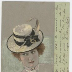 Postales: TARJETA POSTAL MODERNISTA. ILUSTRACIÓN DE RAPHAEL KIRCHNER (AUSTRIA, 1876-1917).. Lote 26090237