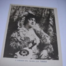 Postales: J. CASADO DEL ALISAL.- LA TIRANA. II. SERIE. Nº 9. SIN DIVIDIR EN REVERSO. Lote 23316333
