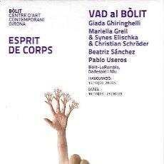 Postales: POSTAL ARTISTICA ESPRIT DE CORPS 2009-BOLIT CENTRE D'ART CONTEMPORANI 2009-GIRONA 1. Lote 23721734